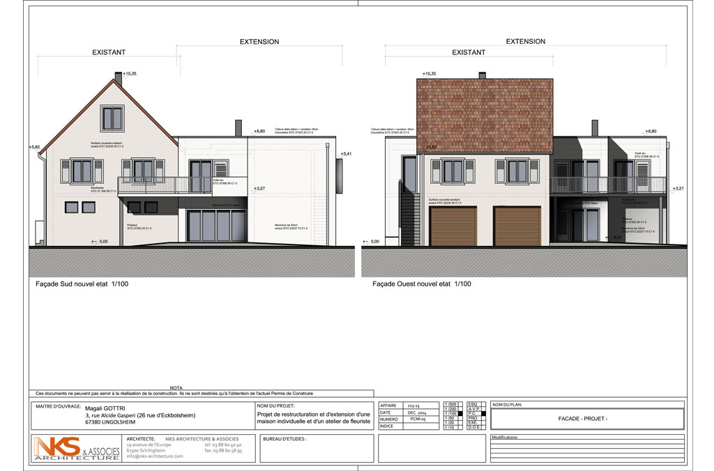 Extension d 39 une maison individuelle nks architecture for Architecture d une maison